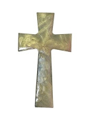 Faith and Praise Illuminations CR101 Wall Hanging Cross Painted in Blush Metallic