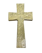 Faith and Praise Illuminations CR106 Sand Metallic Painted Cross
