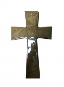 Faith and Praise Illuminations CR108 Mocha Metallic Painted Cross