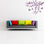 Style and Apply Lilac Blossom Branch Wall Decal
