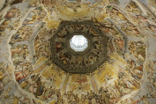 Wallmonkeys Italy, Florence, Fresco by Vasari & Zuccari on Ceiling of Duomo - 180cm W x 120cm H - Peel and Stick Wall Decal