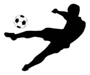 Wallmonkeys Soccer Silhouettes - 120cm W x 90cm H - Peel and Stick Wall Decal