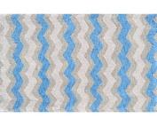 The Rug Market 12388B Handmade Rugs, Ziggy-Blue, Multicolor