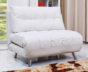 Gold Sparrow Tampa Convertible Chaise Big Chair Bed, White