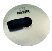 Nino Percussion NINO-NS305 30cm Marching Cymbal with Holding Strap, Nickel Silver