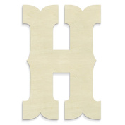 """UNFINISHEDWOODCO Junk Gypsy Letters """"H"""""""