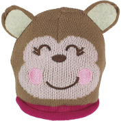 Baby Girl's Thermal Fleece Lined Animal Character Beanie Hat