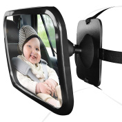 KOBWA Baby Car Mirror Back Seat Mirror for Cars with Headrests