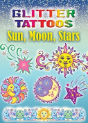 Dover Books DOV-45645-5 Glitter Sun Moon Stars Tattoos