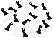 Darice 1157-83, Wedding Confetti, 180ml, Black/White