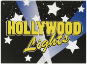 Beistle 58260 8-Pack Hollywood Lights Invitations, 10cm by 14cm