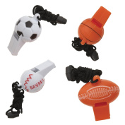 Sports Ball Whistle Party Favours, 4ct