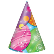 Twinkle Balloons Party Hats, 8ct