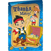 Amscan AMI 481288 Jake and the Neverland Pirates Postcard Thank You Cards, AMI 481288 1, Multicoloured