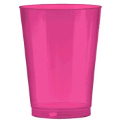 Amscan Big Party Pack Plastic Bright Cups, 300ml, Pink