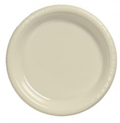 Creative Converting Touch of Colour 20 Count Plastic Lunch Plates, Ivory