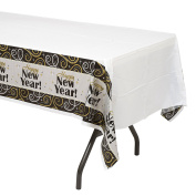Amscan 1 Count Sparkling New Year Plastic Table Cover, Multicolor