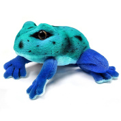 13cm Blue Frog Soft Cuddly Toy - Suitable for all ages
