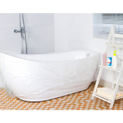 TFY Ultra Large Disposable Film Bathtub Lining Bags for Salon, Household and Hotel Bath Tubs (220cm x 120cm ) - 5 pieces
