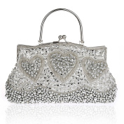 KAXIDY Antique Floral Seed Bead Sequin Soft Clutch Evening Bags Handbags Clutch Purse Clutches Party Wedding Bag