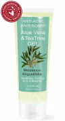 TEA TREE & ALOE VERA moisturiser ANTI SCARS GEL 227 ml - 8 OZ - 100% Natural by bleumarine Bretania