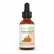 BeYouthful Pomegranate Seed Oil 100% Cold Pressed Unrefined Theraputic Grade Oil For Hair, Face, Skin, Lips And Nails. Distinctive Pomegranate Fragrance, Comes In Amber Dropper Top Bottle For Easy Use.