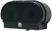 Palmer Fixture RD0321-02 Mini-Twin Standard Tissue Dispenser, Black Translucent by Palmer Fixture