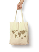 Old Fashioned Map - Canvas Tote Bag