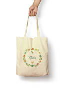 Floral Alecia - Canvas Tote Bag