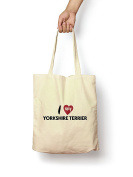 I Love My Yorkshire Terrier - Canvas Tote Bag