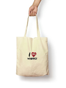 I Love My Whippet - Canvas Tote Bag