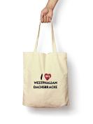 I Love My Westphalian Dachsbracke - Canvas Tote Bag