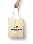 I Love My Tennessee Treeing Brindle - Canvas Tote Bag