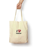 I Love My Taigan - Canvas Tote Bag