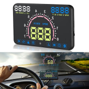 Car HUD Head Up Display - BW 15cm HD Screen E350 Car Speed / Voltage Alarm Head Up Display with Driving Distance Measuring function