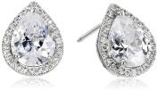 CZ by Kenneth Jay Lane Basic 4cttw Cubic Zirconia Pear-Shape Stud Earrings
