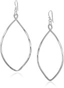 Robert Lee Morris Large Oval Silver Drop Earrings