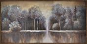HobbitHoleCo 150cm by 80cm Framed Hand Painted Acrylic on Canvas, Tina O., Art Calm Lake