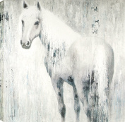 HobbitHoleCo Gallery Wrapped 120cm by 120cm Hand Painted Acrylic on Canvas, Anastasia C., Horse in Blue