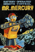 Global Gallery Retrobot Battery Operated Remote Control Mr. Mercury Canvas Artwork