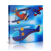 Green Frog Canvas Gallery Wrapped Art Decor, Flying High