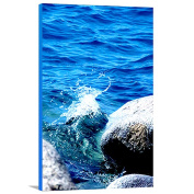 Artzee Designs Home Decor Ready to Hang Great Gift Idea Travel Crashing Beach Waters Photography Wall Art, 90cm x 120cm , Multicolor