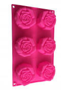 6 Rose Petals Silicone Baking Mould Chocolate Mould Chocolate Mould Cupcake Cake Cakes Crafts Royal Houseware Decoration Flowers Shape Ice Cube Tray DIY Mould