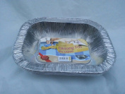 6 x rectangular foil pie dish -20cm x 15cm disposible tray