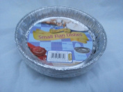 9 x round foil flan dish - 165mm x 25mm disposible tray