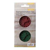 """Birkmann """"Angel and Stag"""" Stamp Disc Set, Silicone, Red/Green, 2-Piece"""