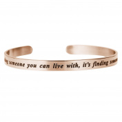 Qina C. Love Is.. Finding Someone You Can't Live Without Adjustable Cuff Bracelet Wristband Bangle