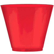Amscan Big Party Pack Apple Plastic Cups, 270ml, Red