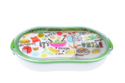 French Bull - Divided Lunch Container - Pack and Snack - Bento Lunch Box - Foodie