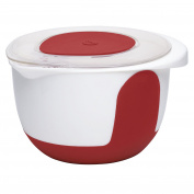 "Emsa ""Mix & Bake"" 3000ml Mixing Bowl with Lid, White/Red"